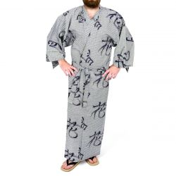 Blue Japanese yukata cotton Men Setsugetsuka