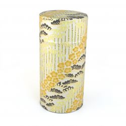 Japanese tea box made of washi paper, TAKESHIRABE, silver