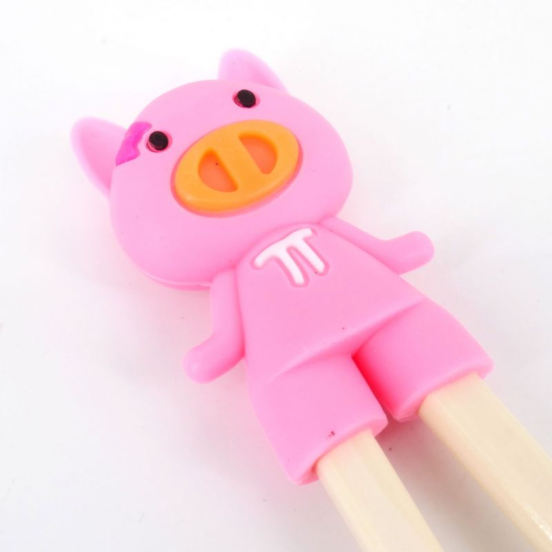 pink japanese chopsticks helper in rubber piglet BUTA