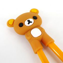 brown japanese chopsticks helper in rubber bear KUMA