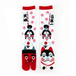 Japanese cotton tabi socks, INU, white