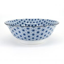 blue japanese ramen bowl in ceramic Ø21cm ASANOHA