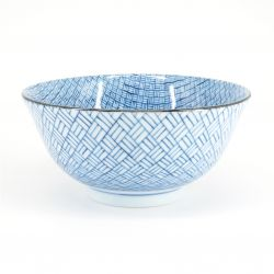 blue japanese bowl in ceramic Ø15,5cm KAGOME