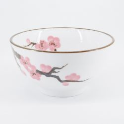 pink japanese rice bowl in ceramic cherry blossoms SAKURA