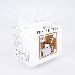white tea filters pack in polypropylene 64 pieces 7 x 9,5cm