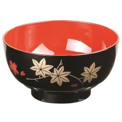 black Japanese bowl with lacquered effect - KURO SHIKKI