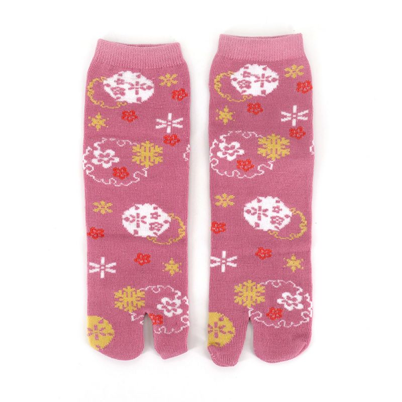 Japanese cotton tabi socks, HANA