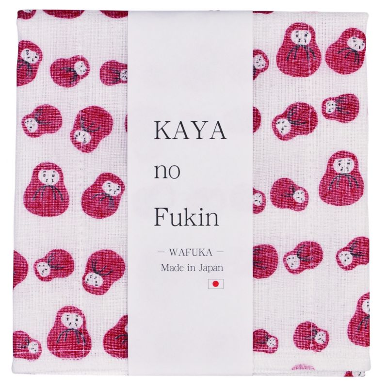 Japanese cloth towel, WAFUKA, daruma