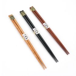 Set of 3 pairs of blue Japanese chopsticks - HASHI SETO