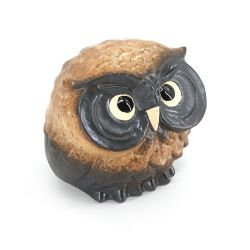 Japanese attentive owl statue - FUKURO