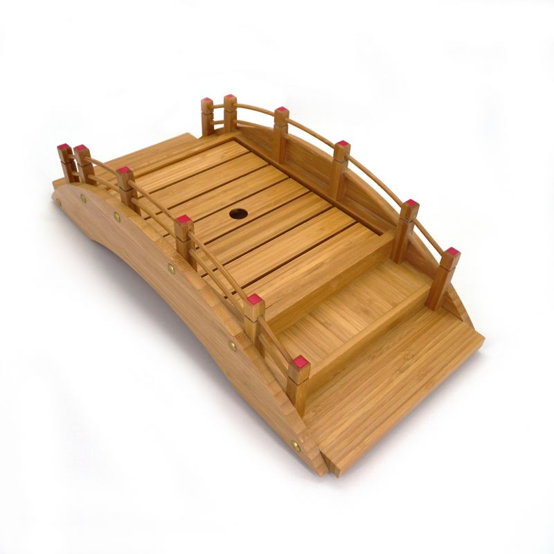 natural japanese decoration bridge for sushi in bamboo L45cm NIHONBASHI