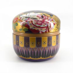 Japanese metal tea box, SUZUKO HITOE, black