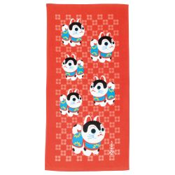 Japanese cotton bath towel, HARIKO INU, small dog