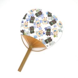 japanese non-folding fan uchiwa MANEKINEKO, cat