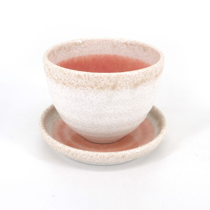 Japanese ceramic tea cup - PINKU TO SHIRO