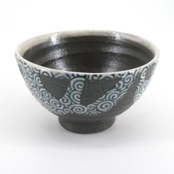 Japanese uzumaki black rice bowl - KURO UZUMAKI