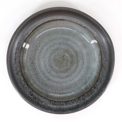 Japanese ceramic plate - GURE - gray and blue