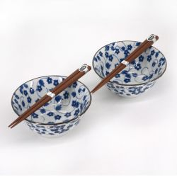 Set of 2 Japanese ceramic bowls - AO PATTA