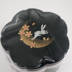 Japanese Black Cherry Blossom Bento Lunch Box, SHIKI NO UTA, Lunar Rabbit