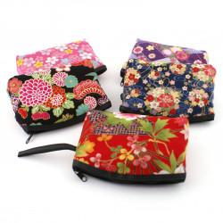 Duo of 2 ceramic rice bowls and 2 resin soup bowls, SAKURA