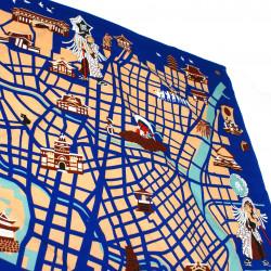 Japanese Noren polyester curtain, TSUKI NO SAKURA