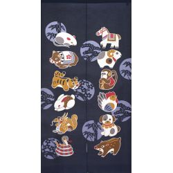 Japanese Noren polyester curtain, ZODIAC