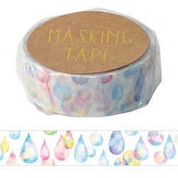 Masking Tape - GLITTER DROP WASHI TAPE - Glitter drops