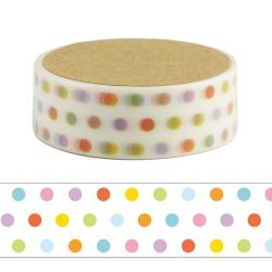 Masking Tape - DOT COLORFUL WASHI TAPE - coloured dots