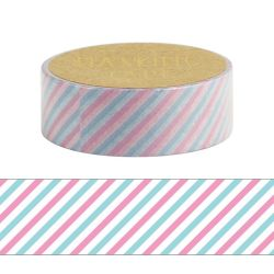 Masking Tape - STRIPE TRICOLOUR WASHI TAPE - Tiras tricolores