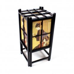 Set of 12 pink Japanese square sheets - YUZEN WASHI PAPER