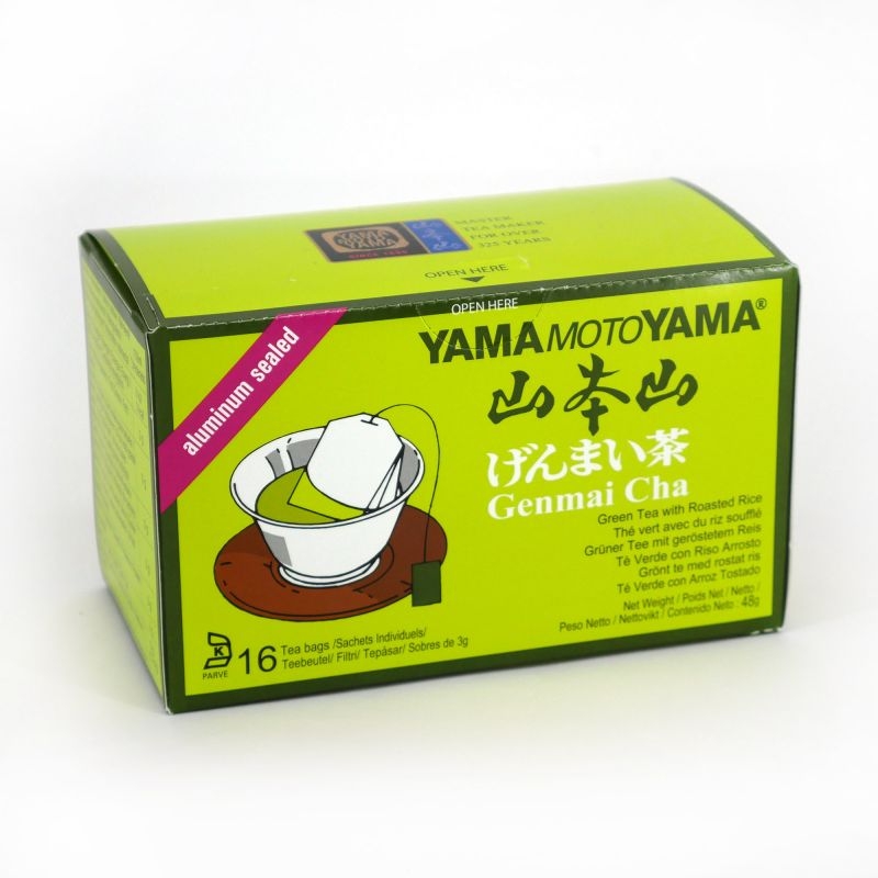 Green Genmaicha tea bag - YMY TEABAG GENAMAICHA