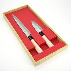 Duo of Japanese knives SASHIMI KOIDEBA - SEKIBA
