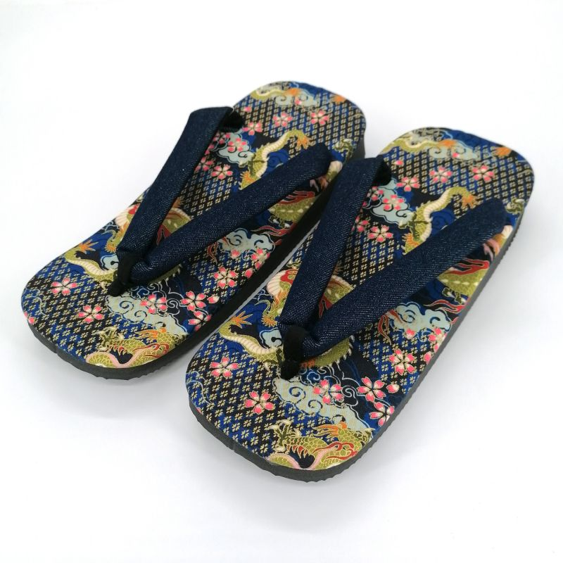 Pair of Japanese zori sandals in polyester, RYU