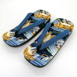 Pair of Japanese zori sandals in polyester, TORA