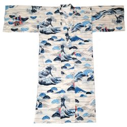 Japanese cotton yukata for men - HOKUSAI