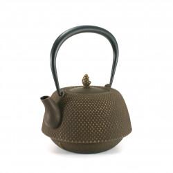 Small Makura cushion with chili pepper pattern, blue - MAKURA CHIRIPEPPA