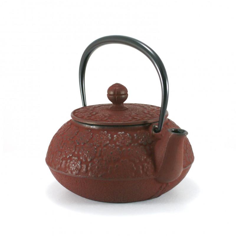 Small Makura cushion with temari pattern, red - MAKURA TEMARI