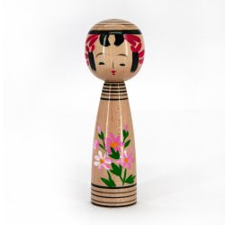Japanese wooden Kokeshi doll - KOKUBICHAN - Color of your choice
