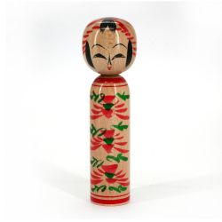 Bambola giapponese in legno Kokeshi - MICHINOKU - Design a scelta