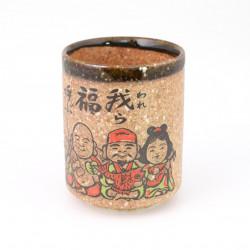 Pair of Japanese fabric zori sandals, TOMBO