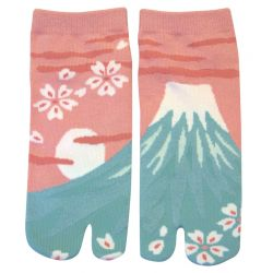 Japanese cotton tabi socks, PINKU FUJI