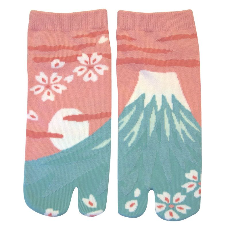 Japanese cotton tabi socks, PINKU FUJI