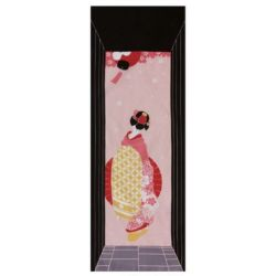Japanese cotton towel - TENUGUI - GEISHA