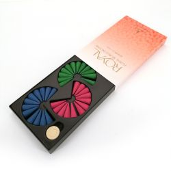 Box of 36 incense cones with its incense holder - FLORAL WORLD ROYAL - Jasmine, Rose and sandalwood