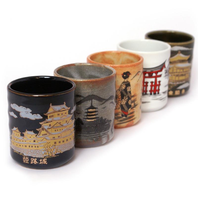 Japanese porcelain incense holder - RYOBO - Kingfisher