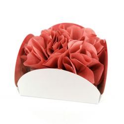 Paper flower containing 8 incense cones with holder - FLORAL WORLD ROSE - rose