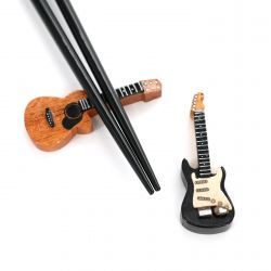 Traditional fancy chopsticks rest in wood WOOD REST guitar