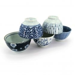 Set of 5 traditional ceramic tea cups - AOI MOYO