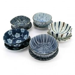 Set of 5 tea cups and their ceramic cups - PATANSETTO