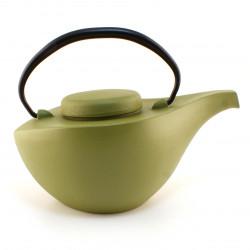 Japanese donburi bowl in brown ceramic bamboo pattern - TAKE